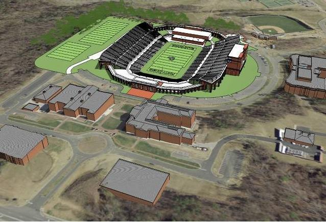Rendering of Charlotte's new 30,000 seat bowl stadium
