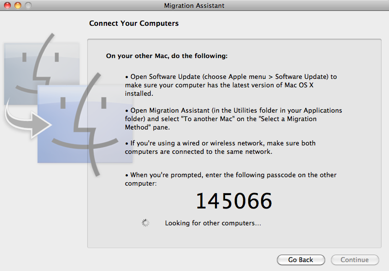 MarcusHesse com » Use Migration Assistant with MacBook Air